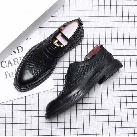 Retro breathable fashion business men's shoes