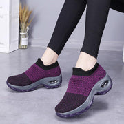 2019 new large size women's shoes air cushion fly-knit sneakers overshoes fashion shake shoes casual shoes socks shoes