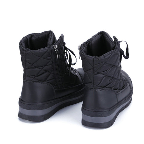 2019 winter new female snow boots warm boots plus velvet lining flat low-top band