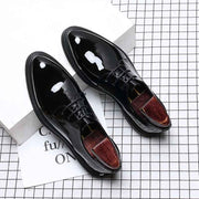 Leather men's low cut breathable business shoes