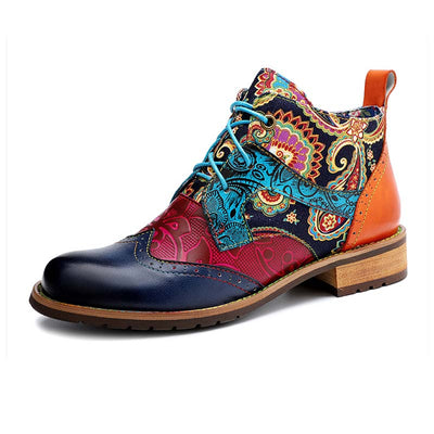 Original casual American pastoral women's non-slip wear-resistant high-end flat short boots