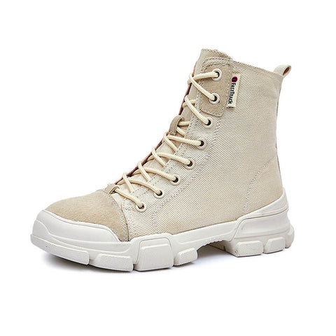 2019 summer new British wind breathable versatile canvas boots Martin boots