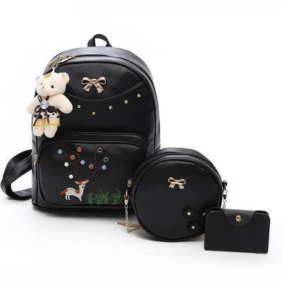2020 New Sweet Lady Trendy PU Suit Women's Backpack