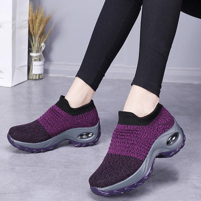 Air cushion foot woven sneakers