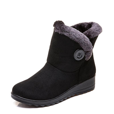 2019 winter new fur one large size short tube snow boots