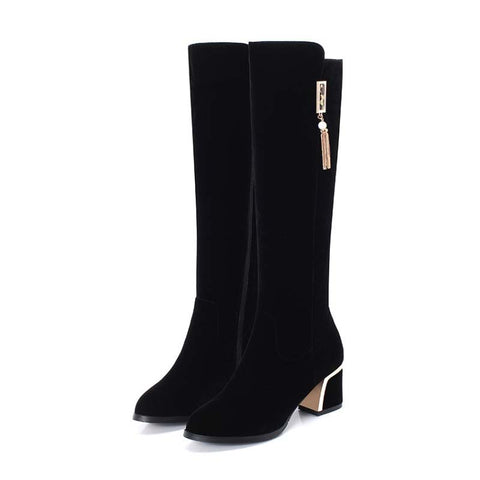 2019 autumn and winter new knight boots thick high heel high boots women's boots