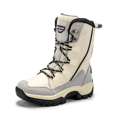 2019 winter new snow boots women plus velvet warm cotton shoes outdoor waterproof anti-skid boots cold shoes