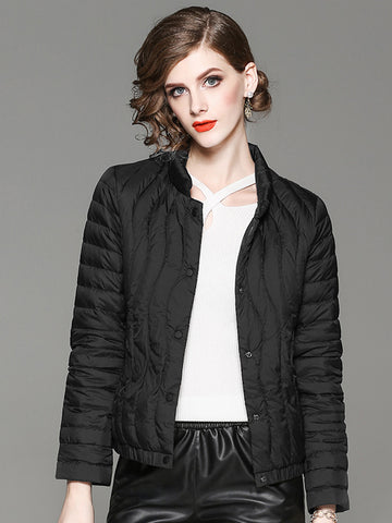 2019 autumn and winter new European and American fashion white duck down women's down jacket warm jacket