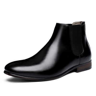 2020 new top-grade cowhide men's Chelsea boots