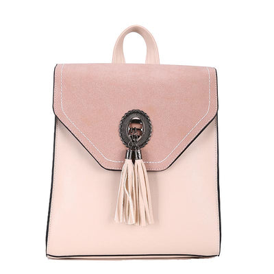 2020 new hot sale PU college style trendy fashion simple women's backpack