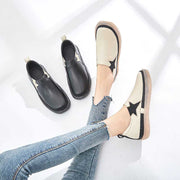 British style leather soft bottom casual loafers