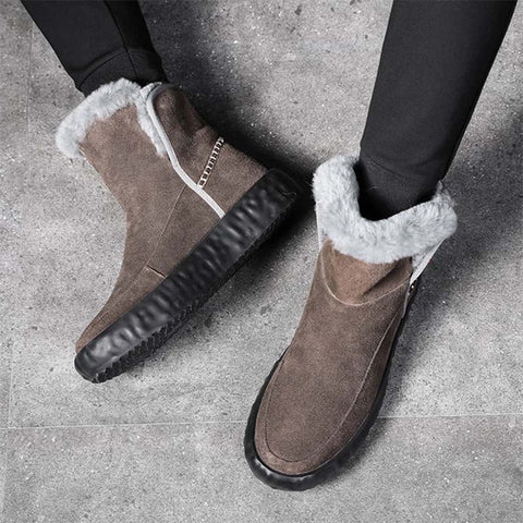 Winter warm and velvet fur one trend wild snow boots