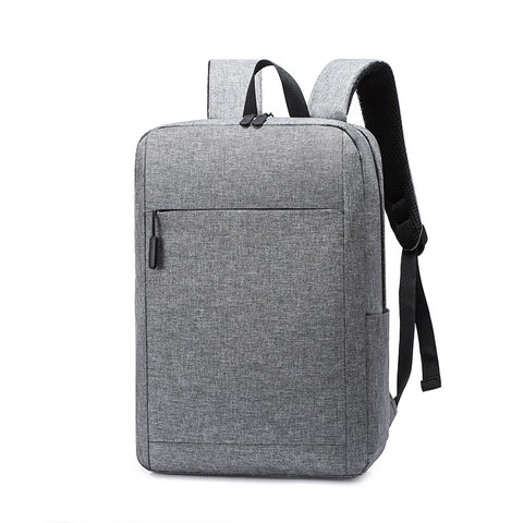 New solid color backpack casual backpack men and women lightweight student schoolbag