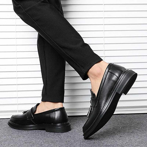 Men's Casual England Breathable Trendy Patent Leather Shoes