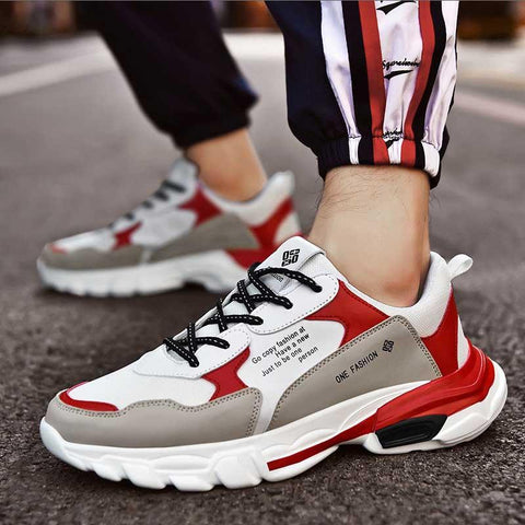 Breathable increase super fire student running men's shoes