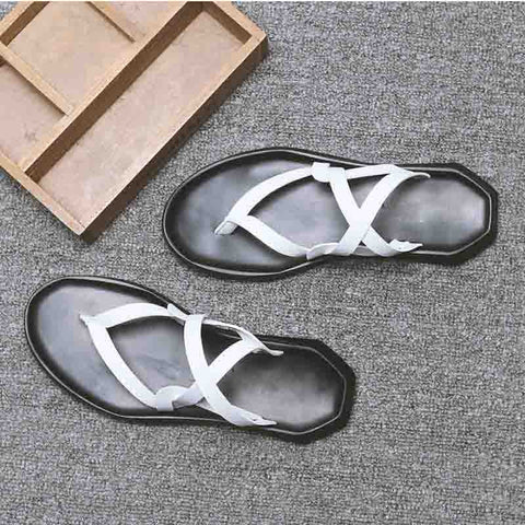 Summer Roman woven casual sandals fashion breathable non-slip word beach slippers