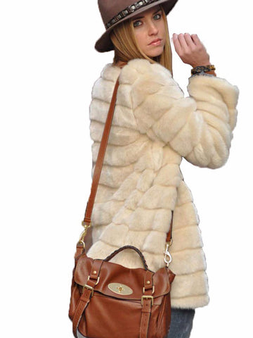Autumn and winter fur coat women's shirt large size rabbit hair fur grass coat