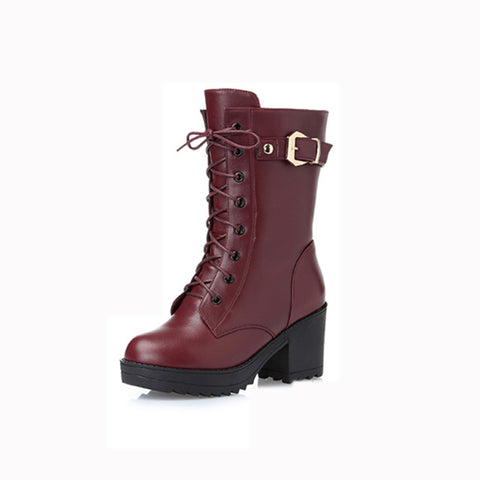 2019 winter new plus velvet warm thick wool large size 43 Martin boots