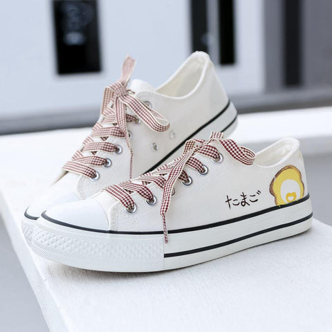 Creative breathable women's canvas shoes