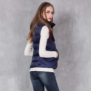 Winter new retro collar slim vest down jacket