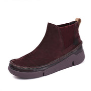 Autumn new top layer cowhide casual sports soft bottom Chelsea boots