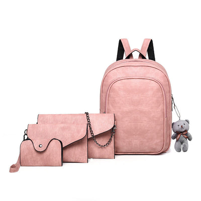 2020 new European and American fashion simple PU women's backpack