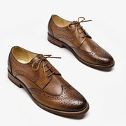 New spring vintage carved single shoes England thick with small leather shoes