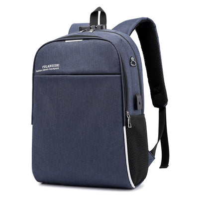 New Casual USB Men's Backpack Breathable Business Computer Bag Travel Bag Student School Bag