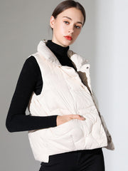 2019 autumn and winter new loose casual down vest vest white duck down short