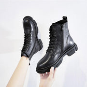 2019 autumn new handsome flat bottom Joker Martin boots