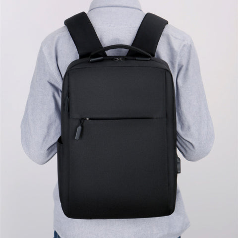 2020 new soft face pure color business casual backpack notebook bag