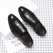 Retro casual business men's leather shoes