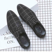 Summer pointed breathable casual plaid shoes