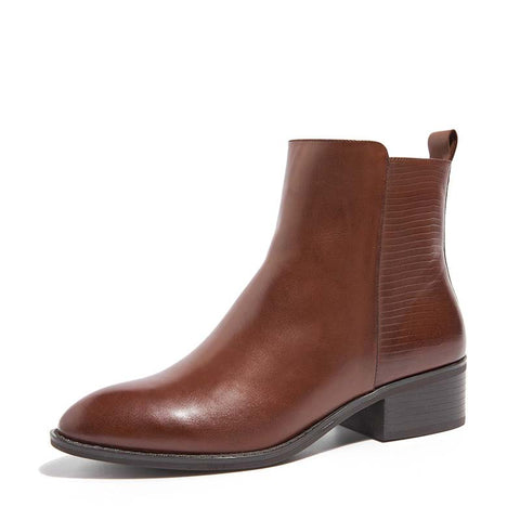 Autumn and winter new Chelsea leather women's boots with Martin boots