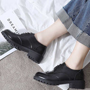 Bullock black wild Harajuku patent leather women's shoes