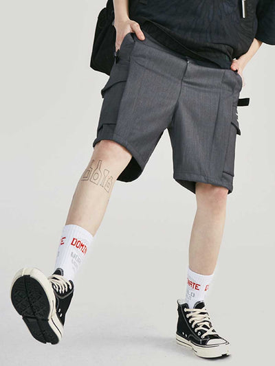 Personality printed side pockets men's shorts