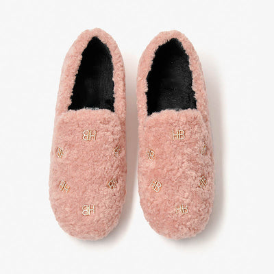 Autumn and winter women's new round toe soft loafers