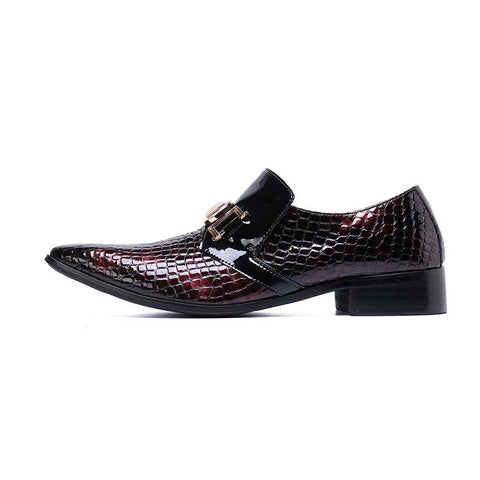 Men's pointed fashion trend casual bright leather business shoes