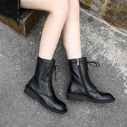 2019 autumn new British style with the same paragraph handsome Martin boots
