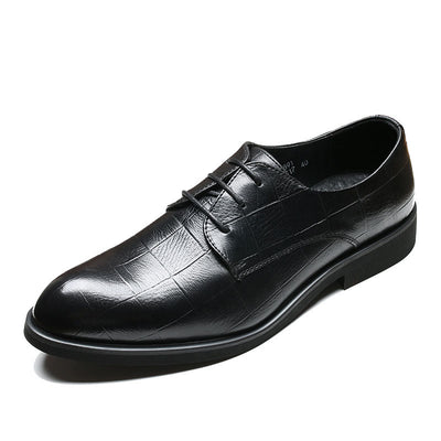 New British business dress shoes increase casual breathable large size men's leather shoes