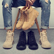 New winter warm plus velvet tooling boots high-top leather men's shoes large size boots trend Martin boots