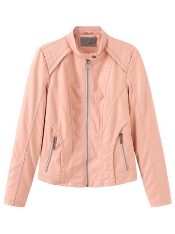 Autumn and winter PU women's leather jacket ladies motorcycle clothing