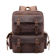 Source Point Travel Vintage Wax Canvas Backpack