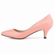 Fashion candy color patent leather pointed simple classic nude shoes
