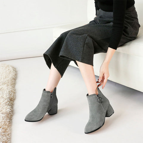 2019 autumn and winter new ladies breathable soft lining plus velvet booties