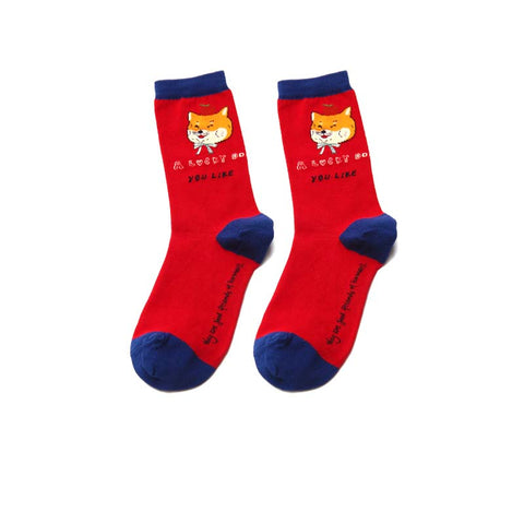 2019 autumn and winter cartoon color funny cotton socks