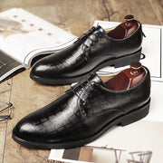 Plaid casual men's business shoes
