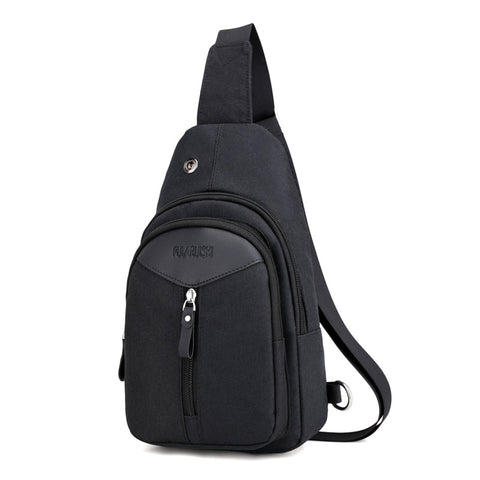 Spring and summer new men's chest bag Oxford cloth headphone large capacity shoulder bag