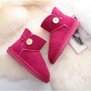 Winter low tube flat with leather scrub sand shoes-2