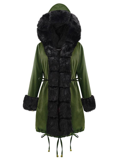 2019 autumn and winter new women's coat coat fur collar coat